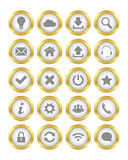 Gold buttons Stock Images