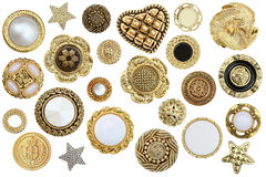 Gold Buttons Royalty Free Stock Photo