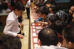 Gold Buying Panic In China Royalty Free Stock Image