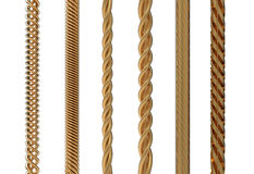 Gold cable Royalty Free Stock Photos