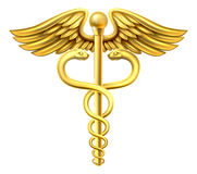 Gold Caduceus Stock Photos