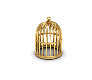 Gold cage Stock Photo