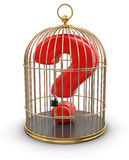 Gold Cage with Quest (clipping path included) stock illustration