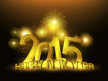 Gold calendar 2015 Royalty Free Stock Image