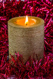 Gold candle Royalty Free Stock Images