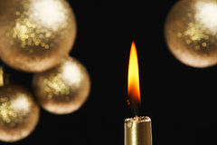 Gold candle Stock Photos