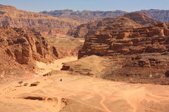 Gold Canyon in Sharm-El-Sheikh Royalty Free Stock Photos