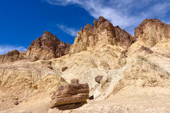 Gold Canyons of Death Valley National Park, California, USA Royalty Free Stock Image