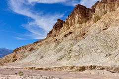 Gold Canyons of Death Valley National Park, California, USA Stock Image