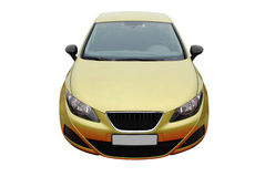 Gold car Royalty Free Stock Images