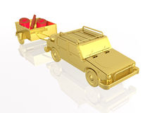 Gold car Royalty Free Stock Image