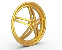 Gold car disc Royalty Free Stock Photos