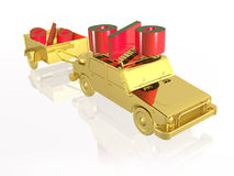 Gold car Royalty Free Stock Photography