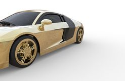 Gold car. With white backround Royalty Free Stock Photos