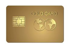Gold card Royalty Free Stock Image
