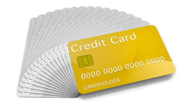 Gold card Royalty Free Stock Images