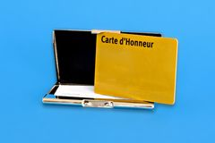 Gold Card. Card holder and a gold card of a honorary membership Royalty Free Stock Photo