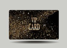 Gold card with abstract background Royalty Free Stock Images