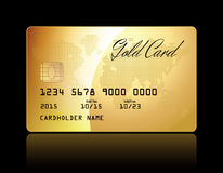 Gold card Stock Photo