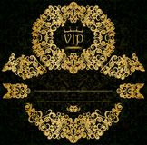 Gold card. Patterned VIP gold card with a placeholder Royalty Free Stock Images