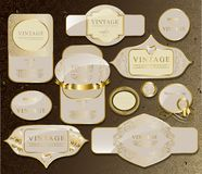 Gold card set Royalty Free Stock Image