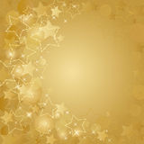 Gold card  with  stars Stock Photos