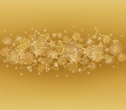 Gold card  with  stars Stock Photo