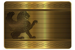 Gold card template. Stock Photo