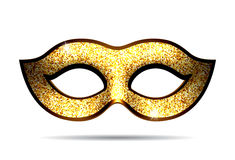Gold carnival mask Stock Image