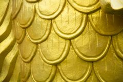 Gold carp scales Royalty Free Stock Images