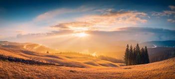 Gold Carpathian light Royalty Free Stock Photography