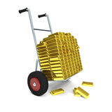 Gold cart Royalty Free Stock Photography