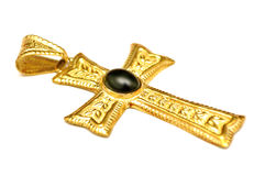 Gold carved cross Stock Image