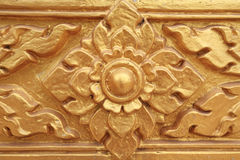 Gold carved flower Royalty Free Stock Photos