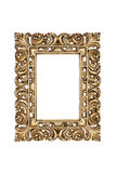 Gold carved picture frame Stock Photos