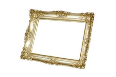 Gold carved picture frame Stock Photo