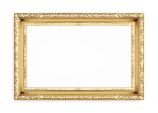 Gold carved picture frame isolated on white background. 3d render Stock Photo
