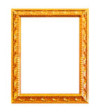 Gold carving frame Stock Photo