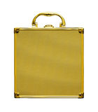 Gold Case. Is on white background Stock Image