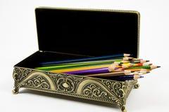 Gold casket Stock Image