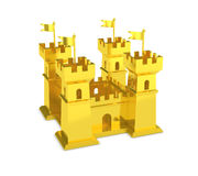 Gold castle power of money isolated Royalty Free Stock Photography