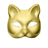 Gold cat mask Royalty Free Stock Photography