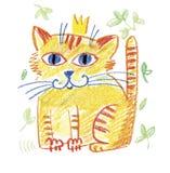 Gold cat Royalty Free Stock Photos