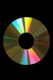 Gold cd. Gold iridescent cd compact disk Stock Images