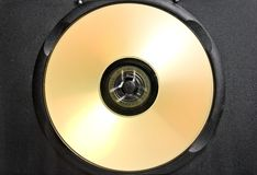 Gold CD in black case Royalty Free Stock Photography
