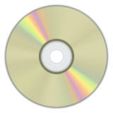 Gold CD Disk with rainbow color Stock Images