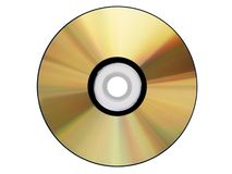 Gold Cdrom isolated Royalty Free Stock Images