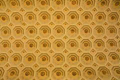 Ceiling of Vatican Museums. Gold Ceiling of Vatican Museums, patterned squares and octagons stock photography