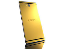 Gold cell phone Royalty Free Stock Photography