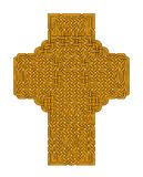 Gold Celtic Cross Stock Images